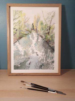 Bras de Marne, quai de Béthune Bords de Marne, Grand Paris 25 x 35 cm