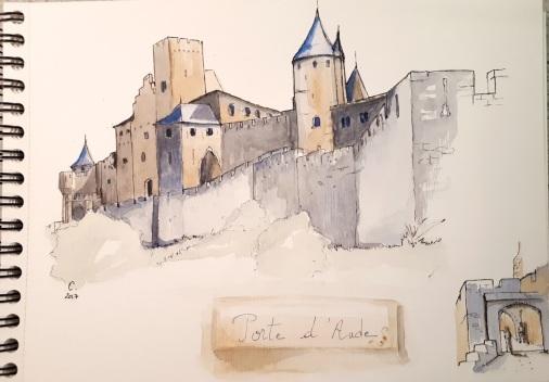 Carnet de croquis Porte d'Aude