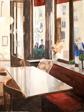 Passage Vivienne, Paris aquarelle petit format