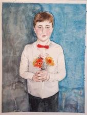 aquarelle enfant fleurs